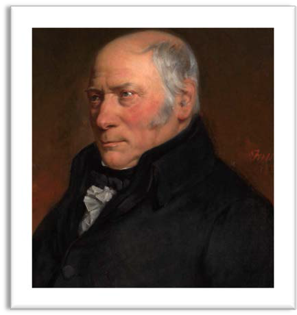 Portrait of William Smith aged 67 (courtesy of The Geological Society)