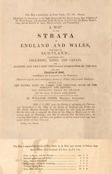 Prospectus for the 1815 Map