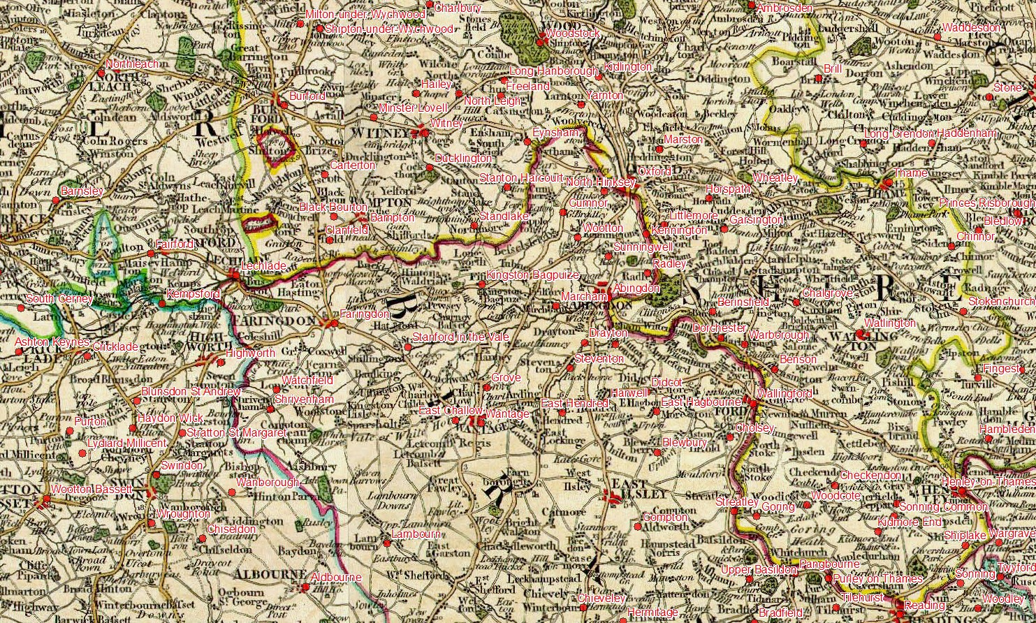 Map Of England Villages.Georeferencing To Town And Village Locations William Smith S Maps