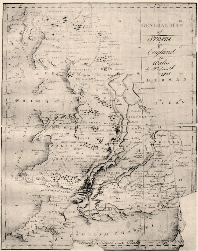 William Smith 1801 Map on Cary's 1794 General Index (Cox 1942)